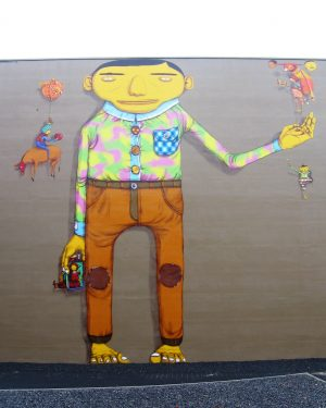 h6r1-s09 Pancratiusstraat - Schelmenhofje L'Etranger - Os Gemeos - 2008