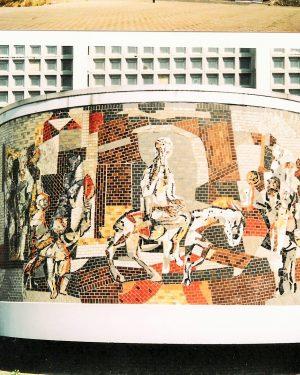 R5a6b-Navolaan - R.K.Kerk Christus Koning - Intocht in Jerusalem-Libert Ramakers-1963