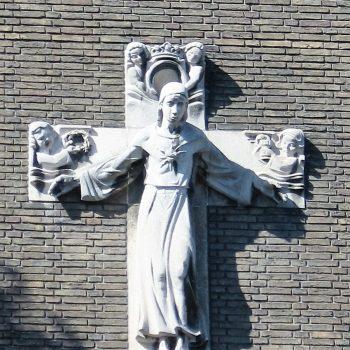 bkr1-k03 Gasthuisstraat - H. Hartbeeld-Charles Vos