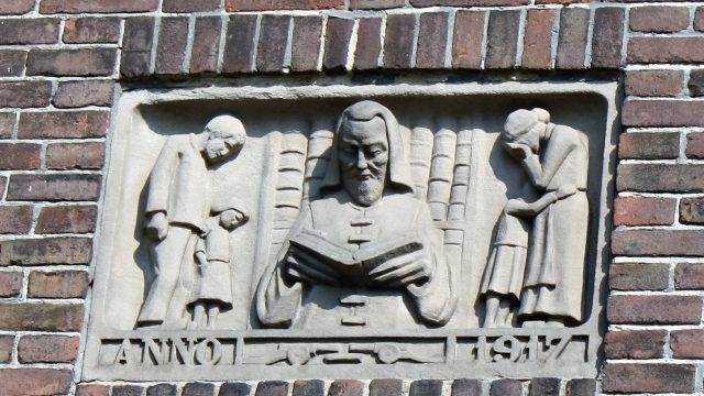bkr2-p02 Tempsplein - Relief-vm. bibliotheek