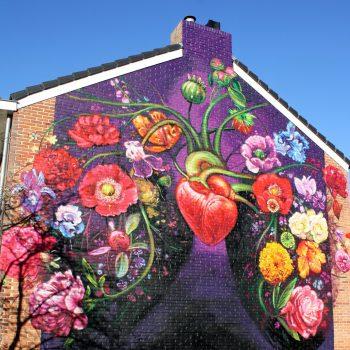 bkr4-a4 Vijgenweg-Oude Kerkstraat - Muurschildering - Gaia (US)
