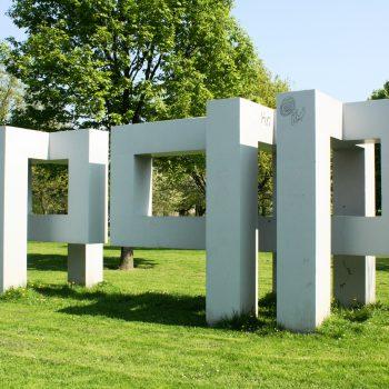 bkr4-m01 Schandelerboord - Plastiek van beton - Appie Drielsma - 1970