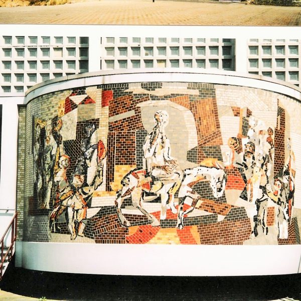 bkr5-j01 Unolaan - Intocht in Jerusalem-Libert Ramakers-1963-Kerk Vrieheide