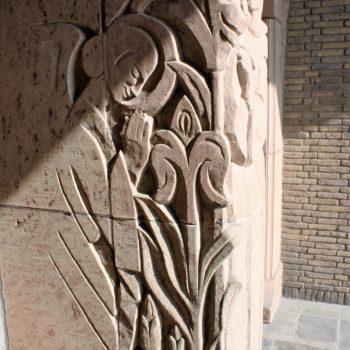 bkr5-k09 Beersdalweg - Kerkportaal met St Antonius-Charles Vos