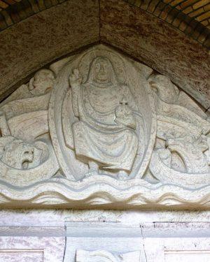 bkr5-k10 Beersdalweg - Kerkportaal met St Antonius-Charles Vos