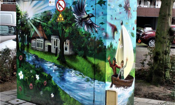 bkr1-p02 Eikenderweg-Beschilderd trafohuisje-Yasja Lichtelijn (NL)