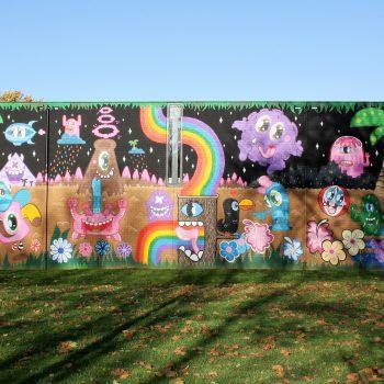 bkr4-p02 Palemigerboord - Muurschildering op schoolmuur-Ox Alien, Edo Rath