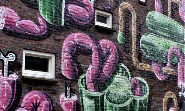 bkr1-p04 Eikenderweg - muurschildering-Sausage-paprika and matches-HNRX (AUT)