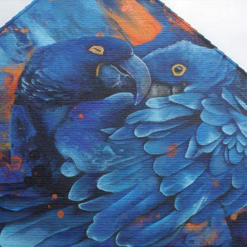 Klompstraat-muurschildering-Tropische vogels-Daniel Mac Lloyd 2019