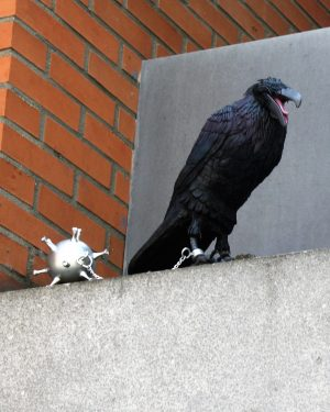 bkr1-c01b Saroleastraat - Vogel aan de ketting