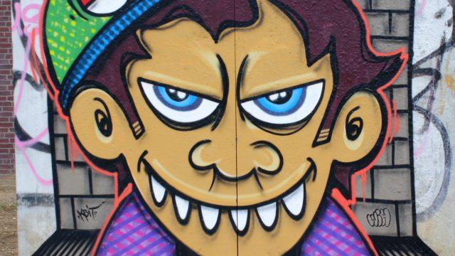 bkr1-f02 Promenade -Muurschildering in tijdelijk stadspark