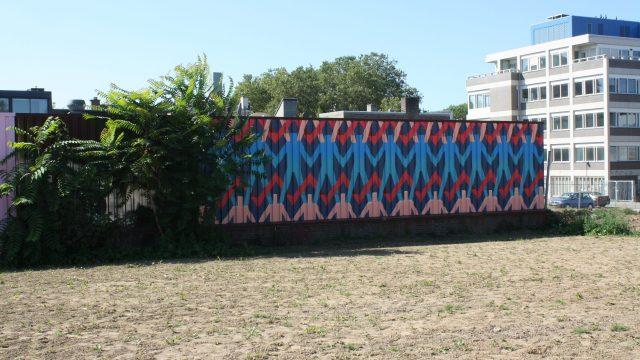 bkr1-f04 Schinkelstraat - Muurschildering in tijdelijk stadspark