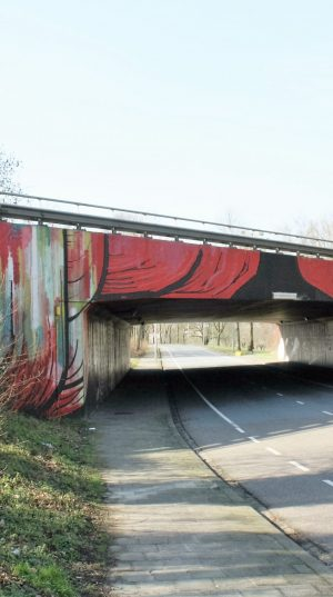 bkr3-n01 Tichelbeekstraat - Viaduct - Naamloos- Dave de Leeuw