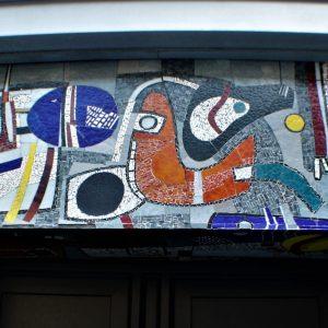 h6r1-g02 Oranje Nassaustraat - Mozaiek van Theo Lenartz